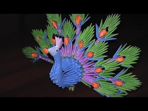 Origami Peacock The King Of Birds Tutorial Instruction