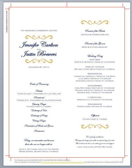 aba program template - best 25 print your own wedding programs ideas on