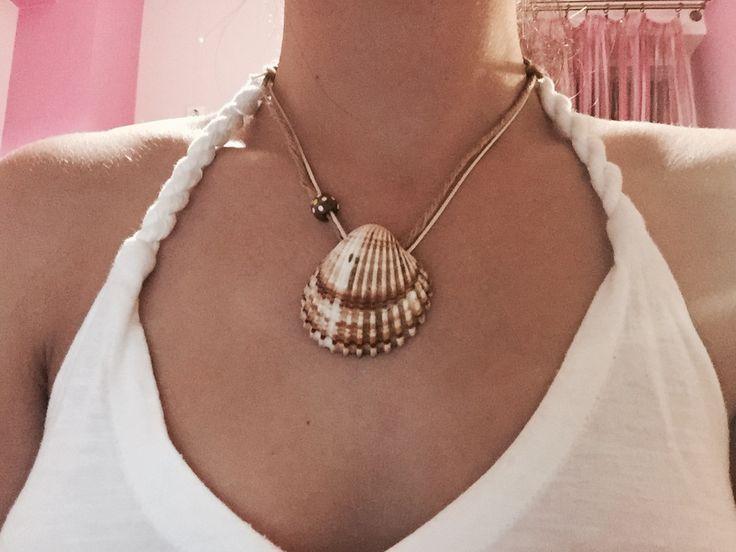 Summer seashell necklace