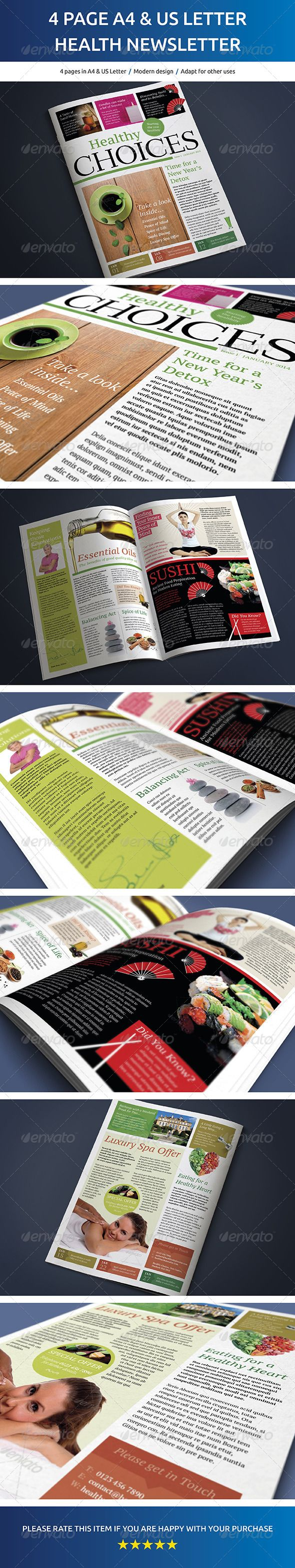 4 Page A4 and US Letter Healthy Living Newsletter - Newsletters Print Templates Download here : https://graphicriver.net/item/4-page-a4-and-us-letter-healthy-living-newsletter/6839771?s_rank=276&ref=Al-fatih