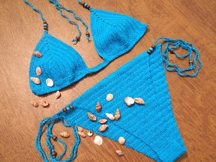 Costum de baie handmade crosetat, by TrendySmile, 80 Lei