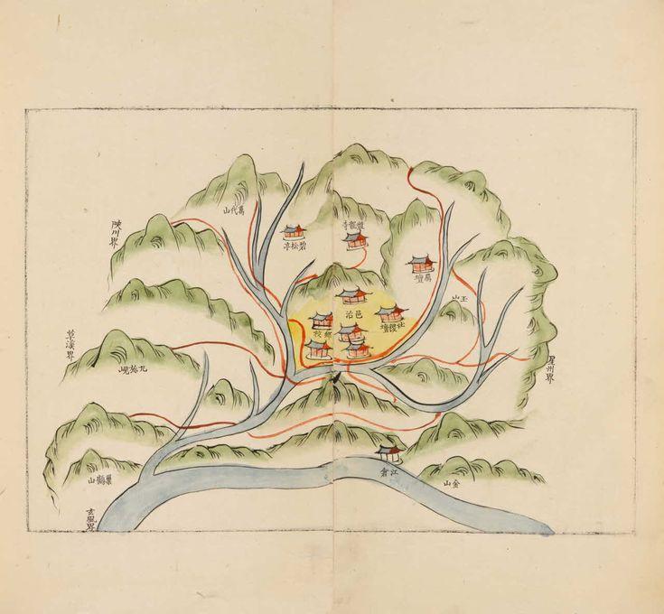 Map of Goryeong Gyeongsang Province 1832 666