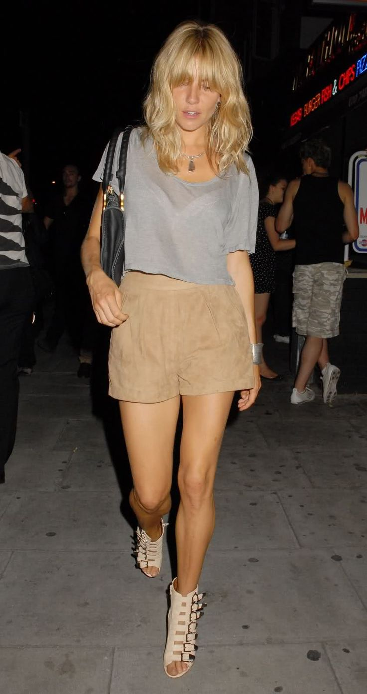 length + wave + bangs // sienna miller #hair