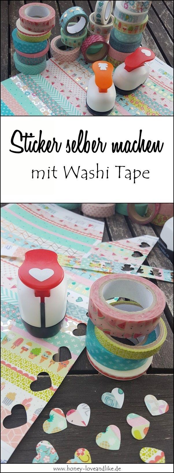 So einfach geht das! Aufkleber selber machen mit Washi Tape