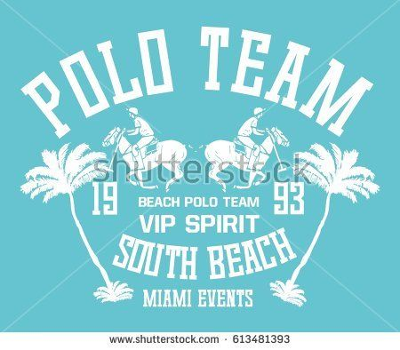 Beach polo sports graphic design vector art