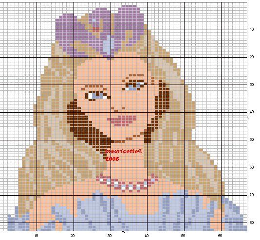 Barbie perler bead pattern by Mauricette