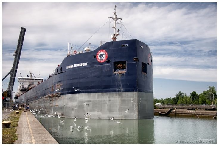 Ship Leaving Lock 2 in St. Catharines