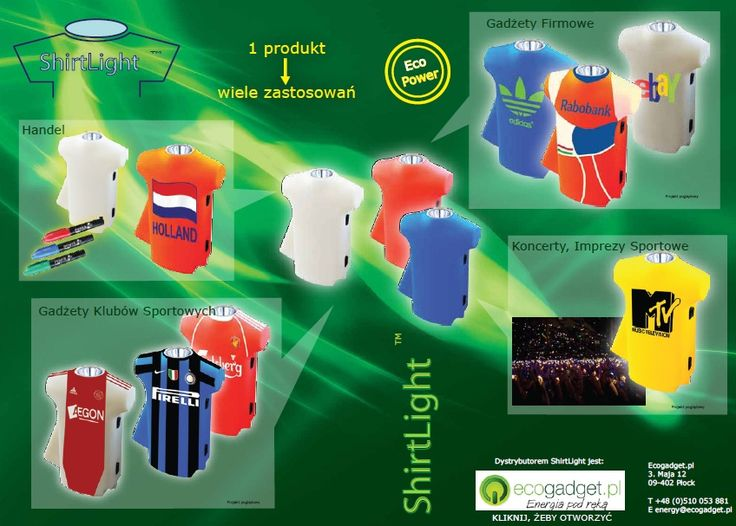 Shirtlight - dynamo powered flashlight in t-shirt shape / Shirtlight - latarka w kształcie koszulki zasilana na dynamo