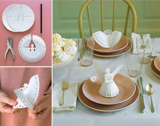 Des anges en papier pour décorer votre table • Quebec echantillons gratuits