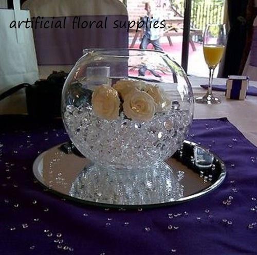 "Fish Bowl Wedding Centrepiece Ideas: Details About (004) 12x 12"" GLASS Mirror Plate 30cm"