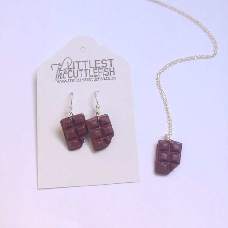 Chocolate bar sterling silver jewellery. www.thelittlestcuttlefish.co.za
