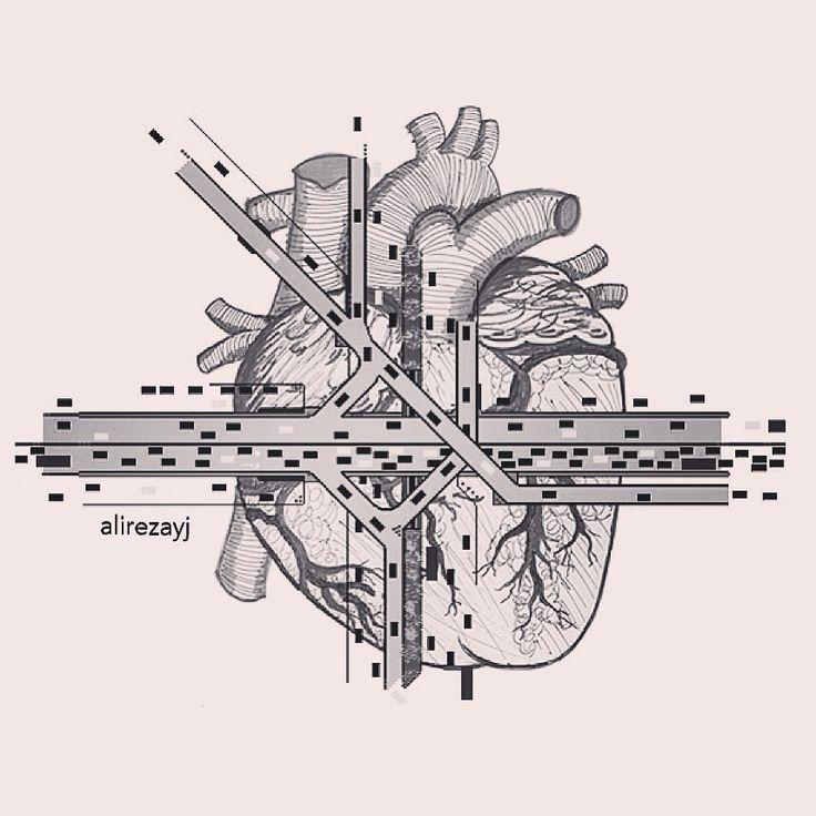 #digitalart #digitalpainting #drawing #city #detail #b & w #heart #simple #Anternational # Art # Modern # Simple # Heart # City # # …