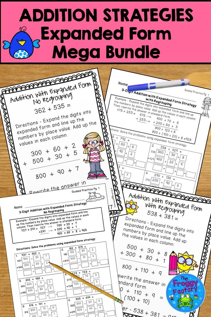 Are You Struggling To Teach Addition With Common Core Strategies This Resource Contains 2 And 3 Digit Addition W Addition Strategies Guided Math Learning Math How to explain column addition