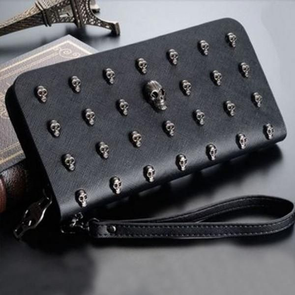 Sexy Skull Wallet. Vegan Leather