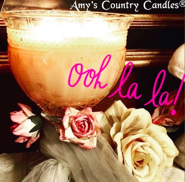 Our Gorgeous Brandon Compote, Burning Bright With Gardenia Scent! Mmmmm ~  So Soothing And
