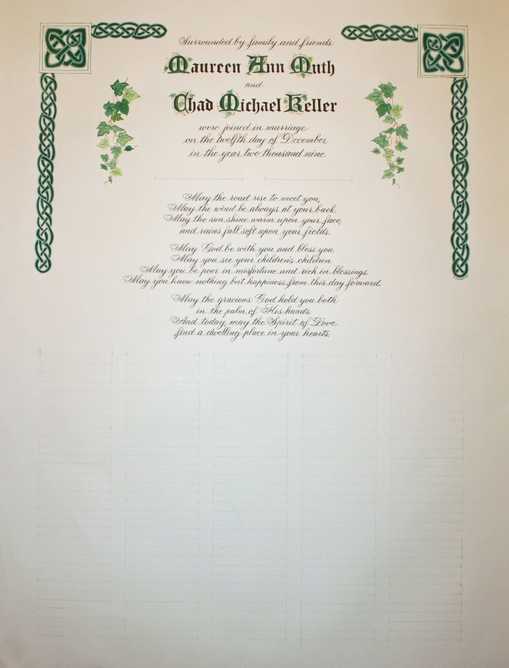 56 best Calligraphy - Certificates images on Pinterest Wedding - marriage certificate