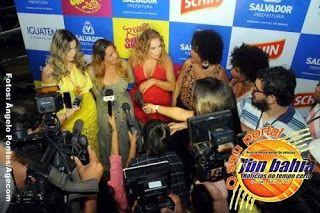 FESTA EM SALVADOR / Daniela Mercury e divas da música baiana fazem homenagem ao axé na Praça Cairu - .