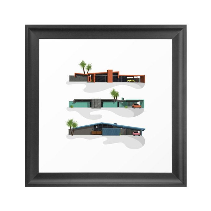 Swanky Houses Art Print | dotandbo.com