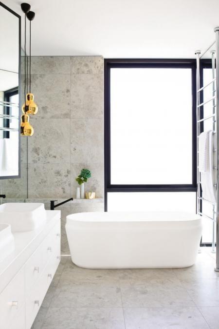 bathroom bath pendant lights towel rail