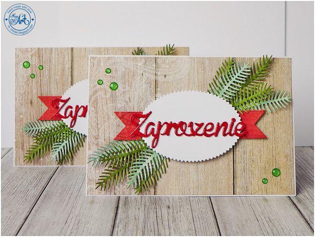 MiniArt - hand made with love: Zaproszenia Świąteczne / Christmas invitations - DT Craft Passion