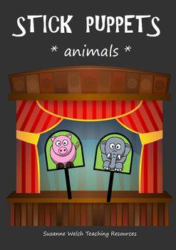 Stick Puppets - animals