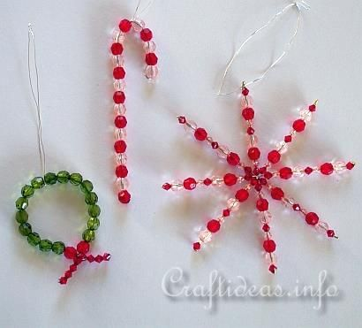 Crafting with Beads - Beaded Christmas good pic, but link not too useful