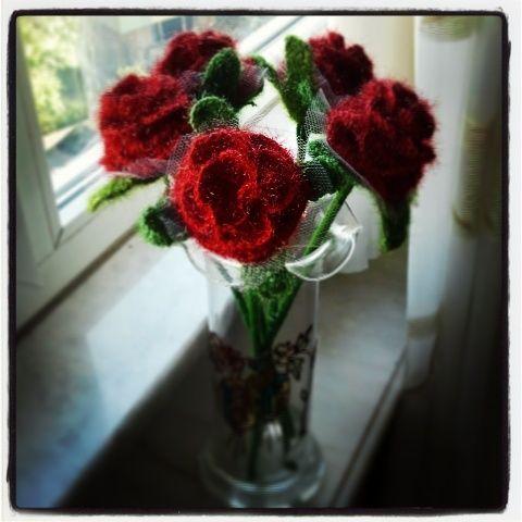 Knitting, crochet, roses,örgü güller - Asmalı Tasarım