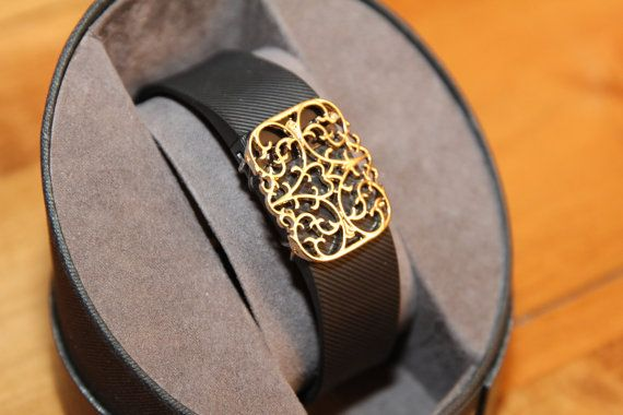 Fitbit Bracelet Charge Hr Cover Elegant Filigree Goldtone My Style Pinterest And