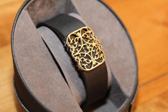 Fitbit bracelet / Fitbit Charge bracelet / Fitbit Charge HR cover - Elegant Filigree Goldtone