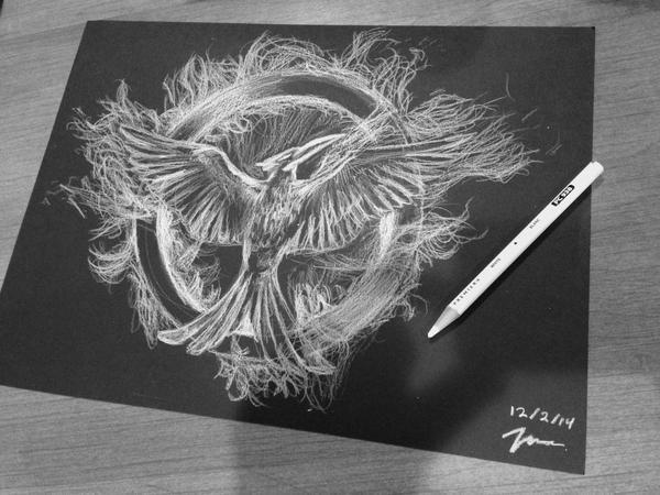 #Mockingjay pencil drawing by vshark1011 on Twitter.