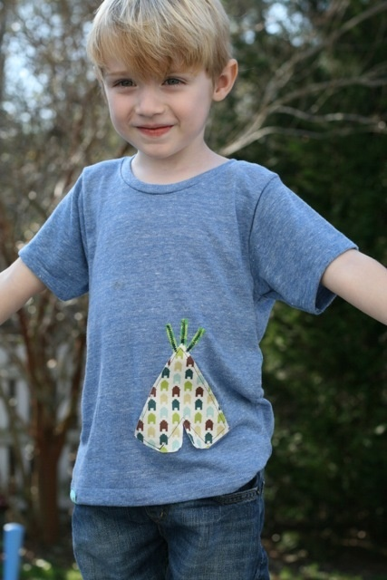 TeePee Tee - blue | Love Thy Neighbor Designs
