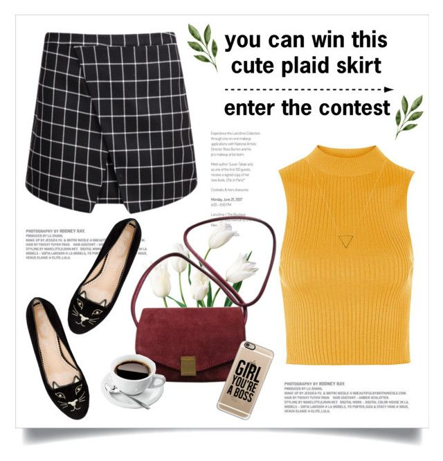"""New contest- enter here ⬇⬇⬇"" by yexyka ❤ liked on Polyvore featuring Charlotte Olympia, Topshop, Zadig & Voltaire, Casetify and Wanderlust + Co"