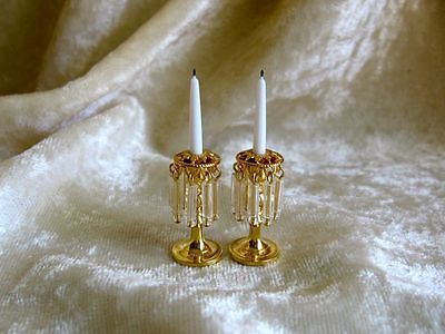 Dollhouse Doll House Miniature Fancy Candle Holder Candle Set   eBay