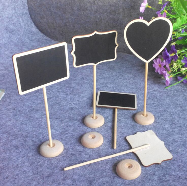 El envío encantador de madera enmarcado Scroll Mini pizarra signos on destaca prefecto para la boda titular de la tarjeta Multi-Shape(China (Mainland))