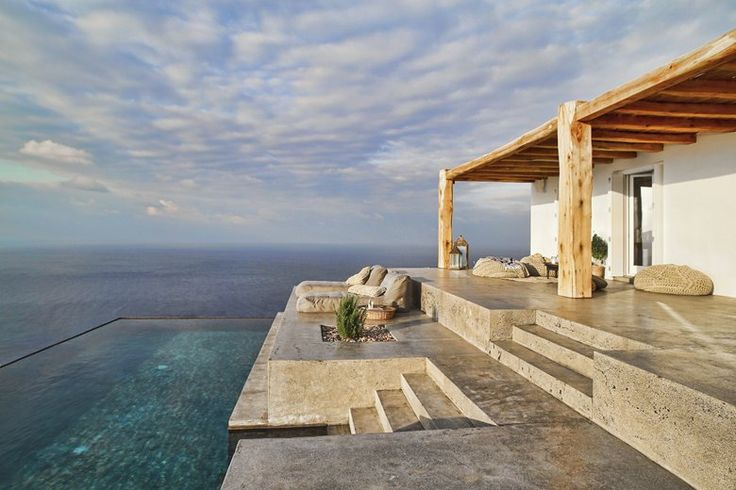 Situated in the island of Syros, this summer house hosts a couple and their guests. The design process was defined by the clients' desire to maximize the view of the Plagia bay. The main intention was to unify the various spaces of the house...