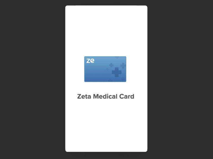 Zeta Medical Card - Onboarding by Saptarshi Prakash #Design Popular #Dribbble #shots