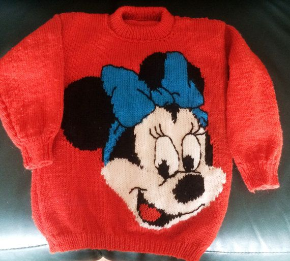 Minnie Mouse Jumper Pattern for children and adults by KraftyKiwis