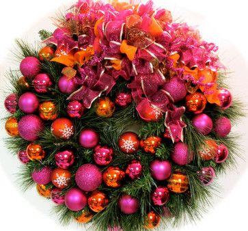 outside xmas decoration | ... Orange by Sandy Newhart Designs eclectic holiday outdoor decorations