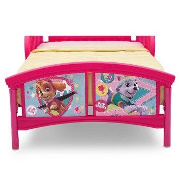 Delta Children Nick Jr. Paw Patrol - Skye & Everest - Plastic Toddler Bed,