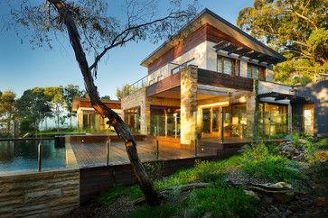 Acerage House Facade Home Design, Decorating, and Renovation Ideas on Houzz Australia