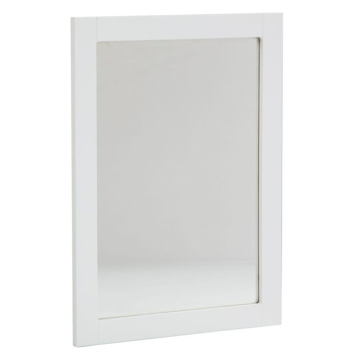 Glacier Bay Lancaster 20 in. x 27 in. Framed Wall Mirror in White-LAWM20COM-WH - The Home Depot