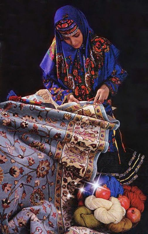 Iranian Carpet patterns are so inspirational.  What beautiful ornamental designs.