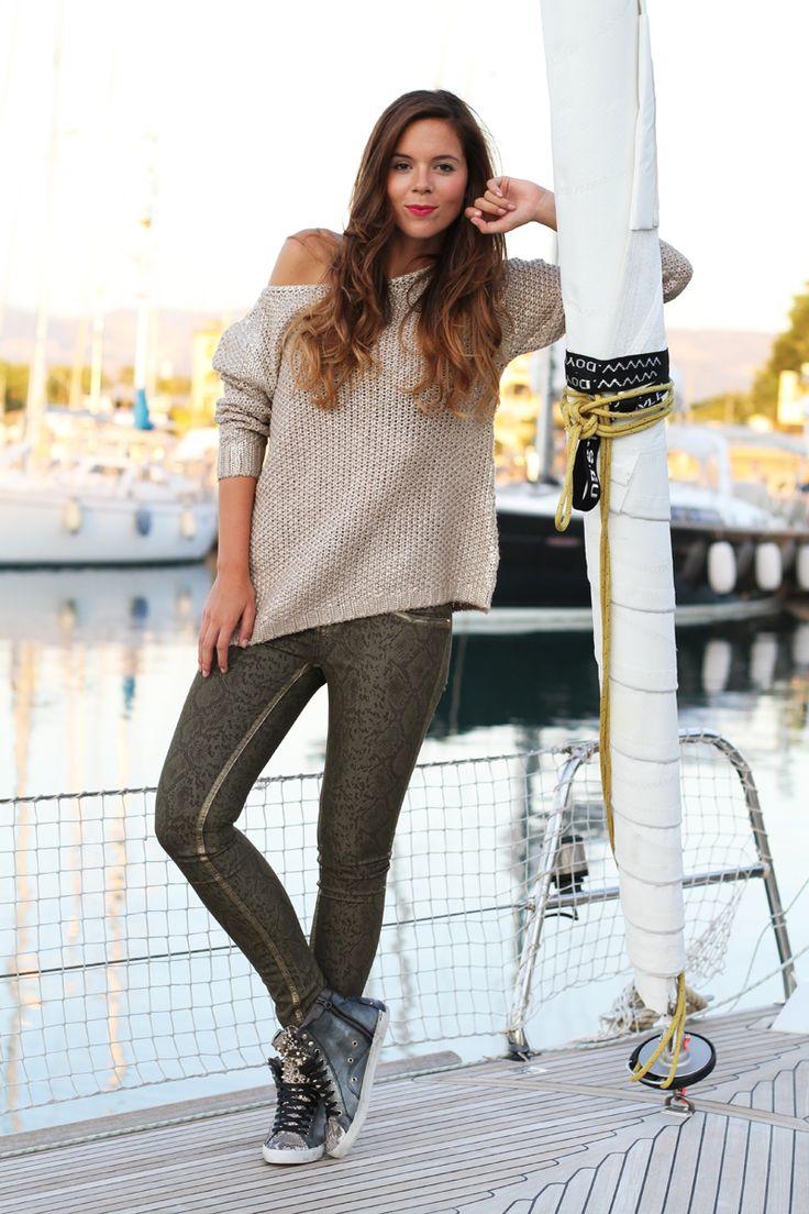 #fashion #fashionista @Irene Hoffman Colzi Sneakers borchiate: il mio look autunno 2013 in barca a vela