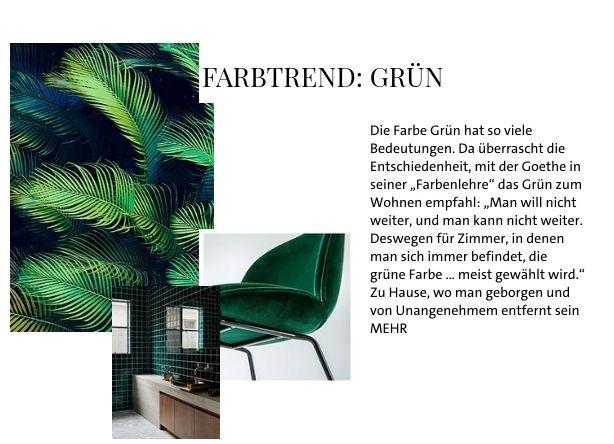 Farbtrend: Grün