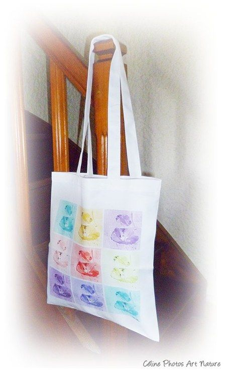 Tote Bag coquelicot multicolore de Céline Photos Art Nature