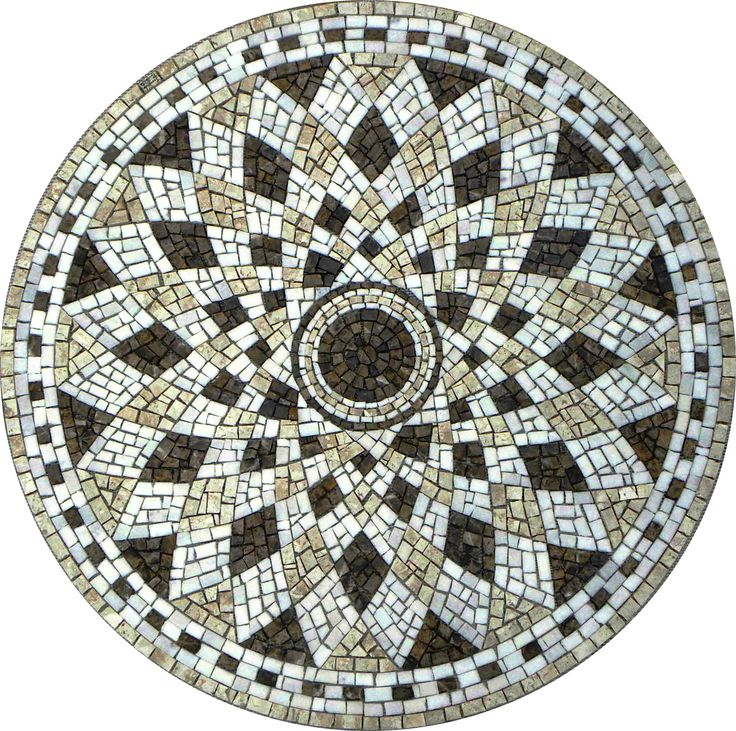 Mosaico - Mosaico Romano Semente De Girassol