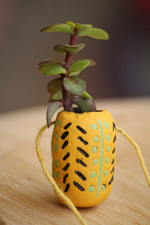 Wearable Terracotta Planter by Bagoholics on Etsy, $20.00
