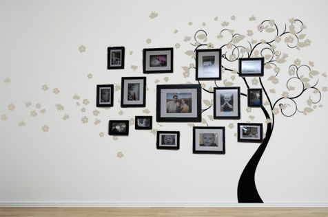 These Blossom Tree Giant Decals turn out SO beautiful for a photo wall or even with mirrors, or just the tree itself! Looks like it's painted right on! www.beatifulwalldecals.com Beautiful Wall Decals