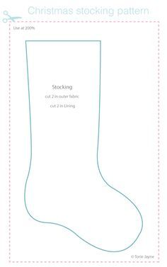 Christmas stocking pattern free download from Torie Jayne