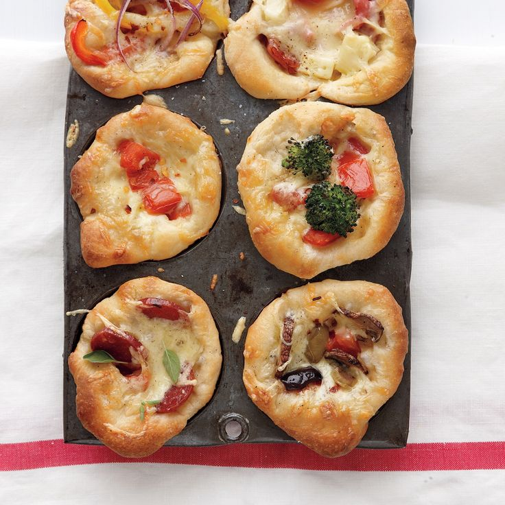 muffin pan is not just for cupcakes. Make these mini deep-dish pizzas ...